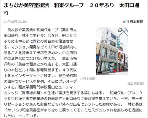 北日本新聞経済面